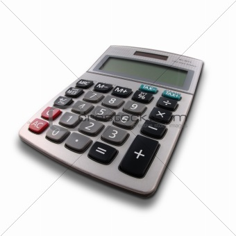 Calculator with perspective view