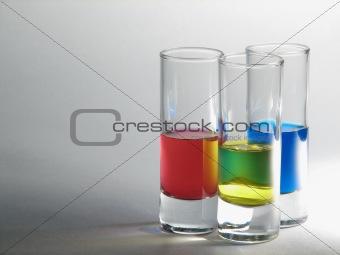 tots with liqueurs