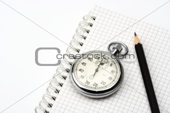 chronometer and  pen