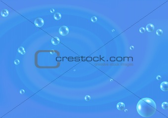 Abstract blue background with bubbles