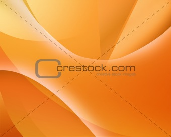 Abstract background with smooth lines, in orange tones