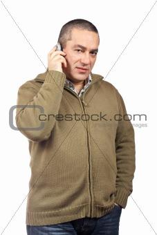 Casual man talking