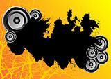Orange grunge party banner
