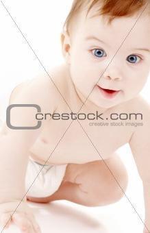 portrait of crawling baby boy #2