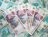 The background - is a lot of banknotes of Russia