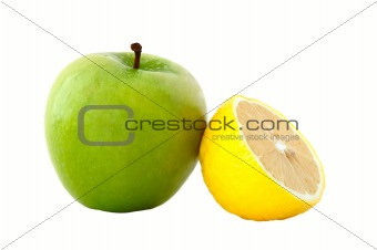 Apple and lemon.