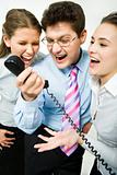 Shouting in telephone receiver
