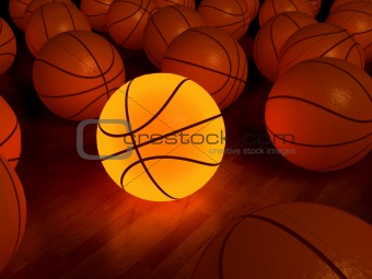 basketball glow ball