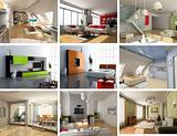modern interiors set