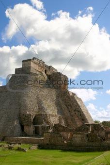 Uxmal maya pyramid