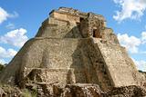 Front view mayan pyramid