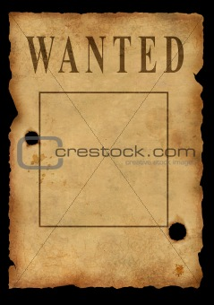 The wild West. The poster about search of the criminal