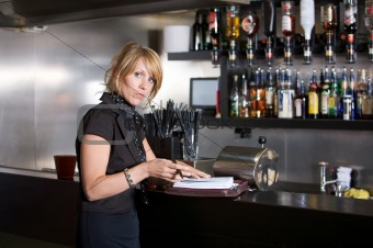 Business woman in a bar