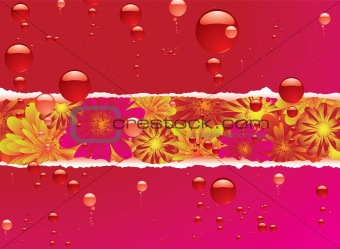floral bubble