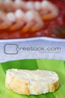 Close up on sliced bread on a table