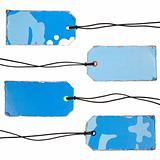 Set of Vintage Blue Tags