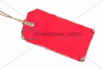 Red Retro Paper Tag