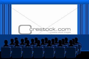 Cinema - blue room
