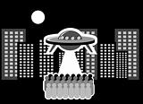 UFO over city