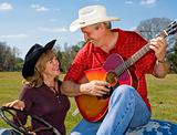 Singing Cowboy & Wife Flirting