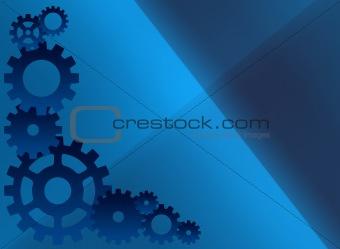 A blue cog background