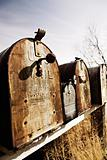 old American mailboxes in midwest