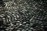 Cobble stone road background texture
