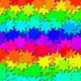 Stars in rainbow colors