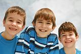 Close-up of Three Boys