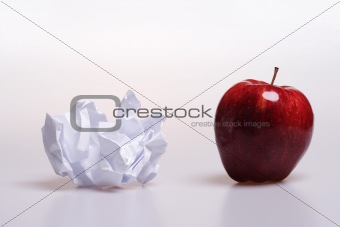 Apple and paper