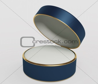 Satiny box for ornaments of dark blue color