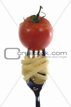 fork/tomato