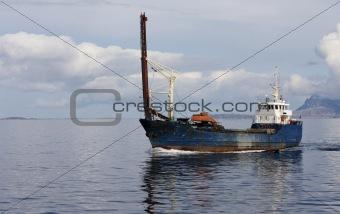 Small cargo boat.