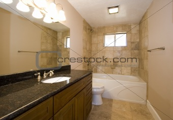 Bathroom in a House