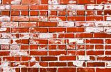 Bright red grungy brick wall