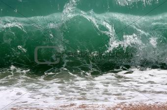 Wave crashing