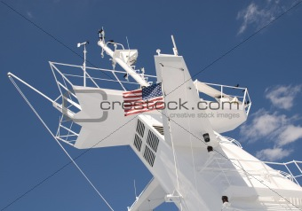 Central Mast on a cruise ship