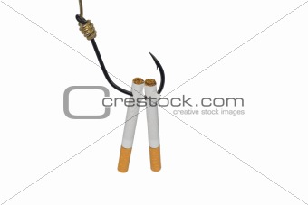 Cigarettes on Fishing hook