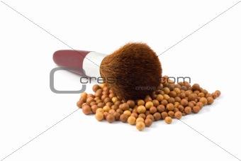 Face Powder brush in mineral make up ball-powder