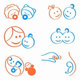 Babies logo elements