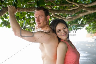 couple  happy at beach
