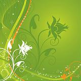 Abstract floral background, vector