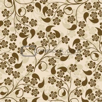 Decorative floral pattern, vector