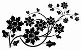 Decorative floral element for design, vector