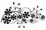 Decorative floral element for design, vector