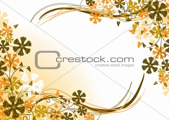 Floral background, frame, vector