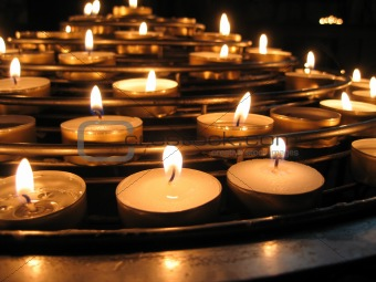 Candles in the Notre Dame Basilica