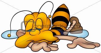Sleeping little wasp