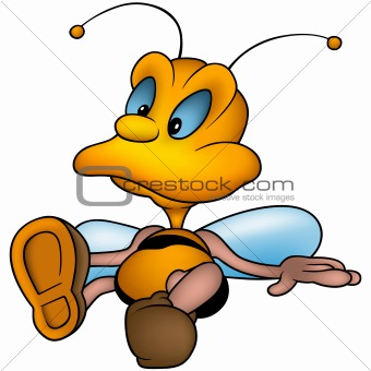 Sitting little wasp