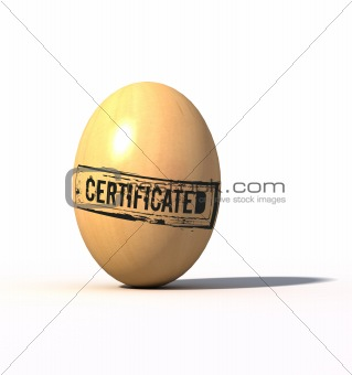certificated egg